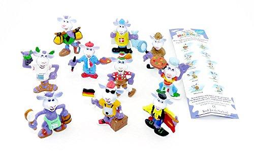 Satz Milkinis Suchard Figuren mit Beipackzettel, EUROPE REISE [Firma Milka]