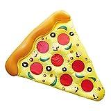 Eurowebb Colchón Flotador Hinchable Pizza–Flotador Part de Pizza para la Mar y la...