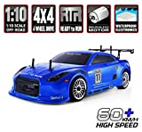 HSP RC Car 1/10 Scale 4wd Off Road RC Drift Car Electronic Monster Truck 4x4 Vehicle Toys Brushless Motor Lipo Battery High Speed 60km/h RTR Hobby Grade Remote Control Car