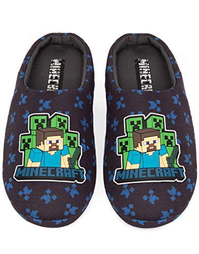 Minecraft Surrounded Boy's Slippers (11 UK Kids)