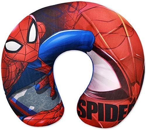 Little Flight Cojín de coche con diseño de araña, para niños, de viaje, Spiderman, Marvel, 28 x 33 cm