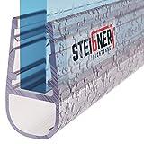 Steigner Joint de rechange 190cm pour une épaisseur de verre de 3,5mm/4mm/5mm, Déflecteur d'eau Joint de douche UK06 UPS...