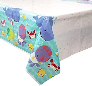 "Under the Sea Plastic Tablecloth, 84"" x 54"""