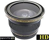 Super Wide Hi-Def Fisheye Lens for Canon XA55 XA50 XA45 XA40 Vixia HF G60 G50