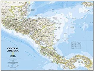 National Geographic: Central America Classic Wall Map - Laminated (28.75 x 22.25 inches) (National Geographic Reference Map)