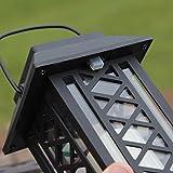 schwarze Solar Laterne mit LED Kerze und täuschend echt wirkenden Flacker-Effekt, von Festive Lights - 3