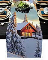 テーブルランナー クリスマス 冬 雪花 クリスマスツリー テーブルクロス モダン 北欧風 プレースマット レストラン用 滑り止め 上品 断熱 食卓飾り お食事マット おしゃれ インテリア 33x304cm