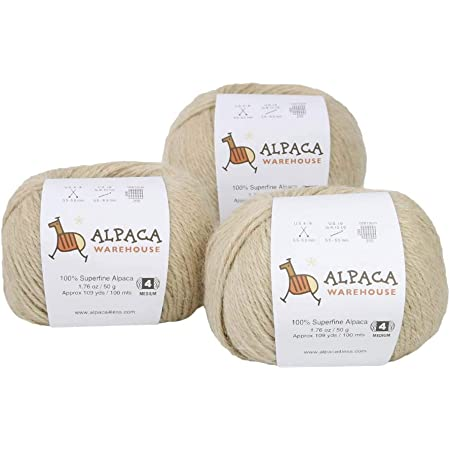 Heavenly Soft and Perfect for Knitting and Crocheting Antique Rose, Worsted Blend Alpaca Yarn Wool Set of 3 Skeins Worsted Weight