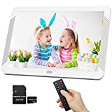 1920x1080 Digital Photo Frame 8 Inch Widely IPS Screen Include 32GB SD Card, Photo Auto Rotation, Image Preview, Auto Play, Support Max 128GB USB Drive, SD, MMC, MS Card