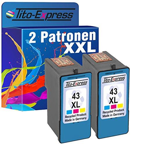 2Cartuchos de Tinta para Lexmark 43XL Color P350X7550X7675X9300X9350X9570X9575Z1520platinumserie