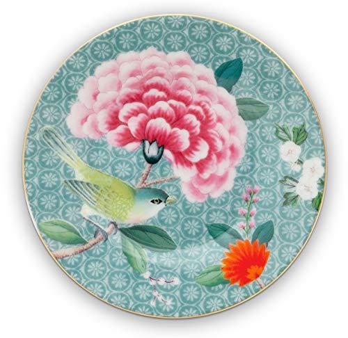 Essenza Home Pip Studio - Petit Four Teller, Dessertteller - Blushing Birds - Porzellan - blau - D 12 cm