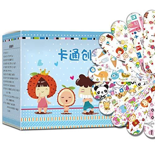 Jackallo 120Pcs Cartoon Waschfeste Bandagen Klebebandagen Wundpflaster Erste-Hilfe-Blutstillung Pflaster Aufkleber für Kinder Kinder