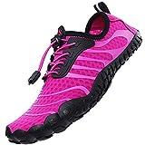 lvptsh scarpe da immersione uomo donne scarpe da mare scarpe da spiaggia asciugatura rapida scarpe da scoglio scarpe da acqua a piedi nudi per beach swim surf yoga sport acquatici,viola,eu39