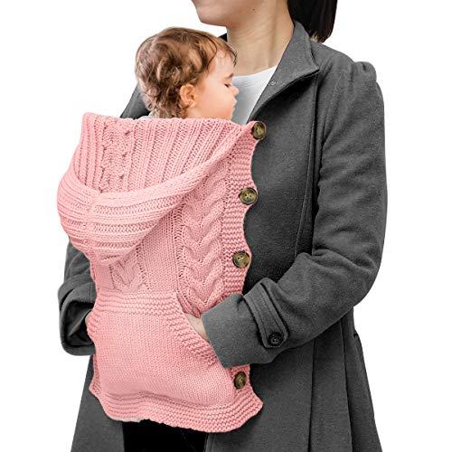 NCONCO Baby Strickumhang Neugeborenes Winddichter Kapuzenmantel im Freien für 0-1 Jahre Baby