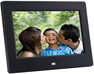 Digital Photo Frame Advertising Player Support Video Music Picture Playback 7-Inch 16:9 Gold Photo Aspect Ratio