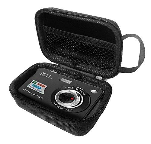 FitSand Hard Case for Aberg Best 21 Mega Pixels 2.7 LCD Rechargeable HD Digital Camera Travel Zipper Carry EVA Best Protection Box