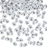 10000 Piezas Diamantes de Acrílico Confeti de Dispersa de Mesa de Boda Transparente para Centro de Mesa Boda Despedida de Soltera Decoraciones de Abalorios de Florero (Plateado, 4 MM)