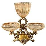 NYDZ Jarrón de cristal plato de fruta seca moderno decoración del hogar modelo creativo