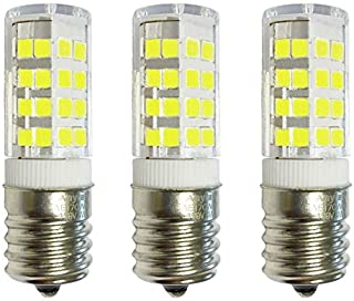 3-Pack Anyray Replacement for GE WB36X10003 40W Microwave Light Bulb, 40T8 E17 Base Appliance Light Bulbs (Cool White 6000K)