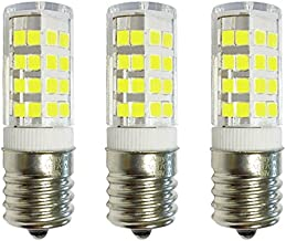 3-Bulbs E17 LED Bulb for Microwave Oven, Freezer, Under-Microwave Stove light 40W-Equival (Cool White 6000K)
