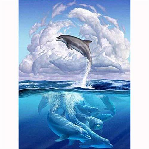 Pussel 300 bitar - Dolphin family Pussel för vuxna och tonåringar Vuxna pussel 300 bitar 52,5 × 38,5 cm