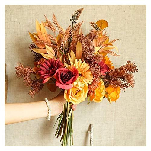WANGYA Getrocknete Blumen 1 stück Herbst Blumenstrauß Nachahmung Blume Künstliche Blume Pflanze Für Danksagung Tag Künstliche getrocknete Blume Home Hochzeit Dekor Blumen getrocknet strauß