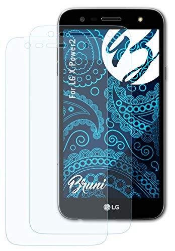 Bruni Schutzfolie kompatibel mit LG X Power2 Folie, glasklare Bildschirmschutzfolie (2X)