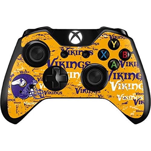 Skinit Decal Gaming Skin for Xbox One Controller - Officially Licensed NFL Minnesota Vikings - Blast Design