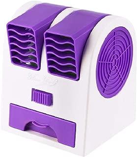 SHANGRUIYUAN-Mini Fan Multifunction Portable Mini Fan Bladeless USB Desktop Cooling Fan Double Wind Outlet Perfume Diffuser (Color : Purple)