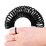 LUCWI Ring Sizer Set with Half Size 27 Pieces, Finger Size Gauge Measuring Tool, Rings Size Jewelry Sizing Tools  1-13