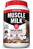 Muscle Milk Genuine Protein Powder, Natural Chocolate, 32g Protein, 2.47 Pound, 16 Servings