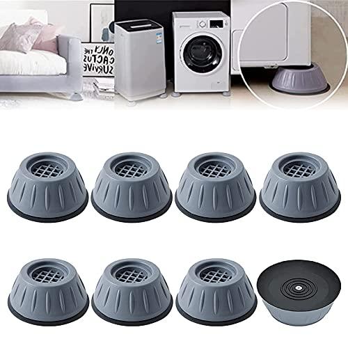 Anti Vibration Washing Machine Support, Shock and Noise Cancelling Washing Machine Support, Washer Dryer Anti Vibration Anti-Walk Foot Pads (8pcs)