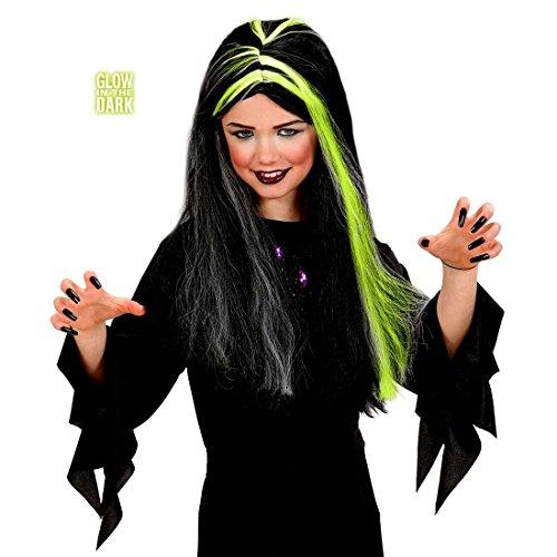 NET TOYS Perruque pour Enfants sorcière Halloween sorcières Perruques Perruque de sorcière Perruque d'halloween Perruque d'enfant Mardi Gras Perruque de Dracula