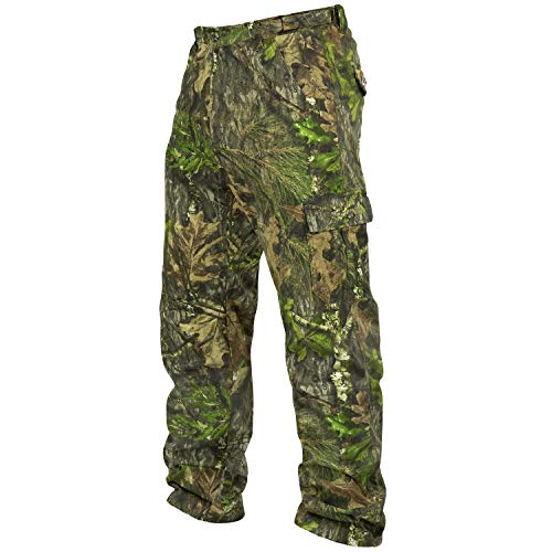 Mossy Oak Cotton Mill 2.0 Camo Hunting Pants for Men Camouflage Clothes, Large, Obsession