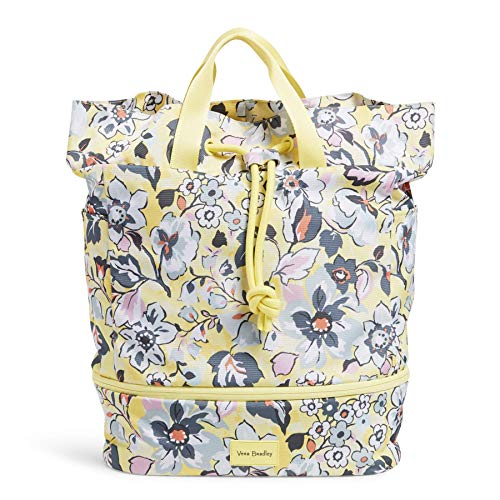 Vera Bradley Women's Recycled Lighten Up ReActive Sport Gym Bag, Sunny Garden
