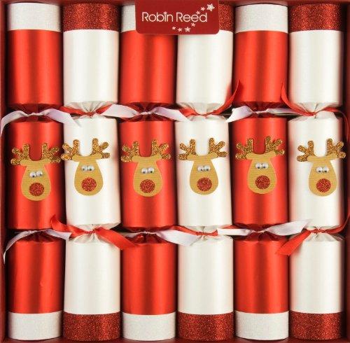 R&R 6 x 13 (inch) Handmade English Christmas Table Decorations - Racing Reindeer