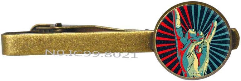 Rock Tie Pin, Rock Tie Clip, Music Tie Pin, Music Tie Clip, dj Tie Pin, Rock Music Band, Gift for dj, Husband Gift, Friend gift-RG264