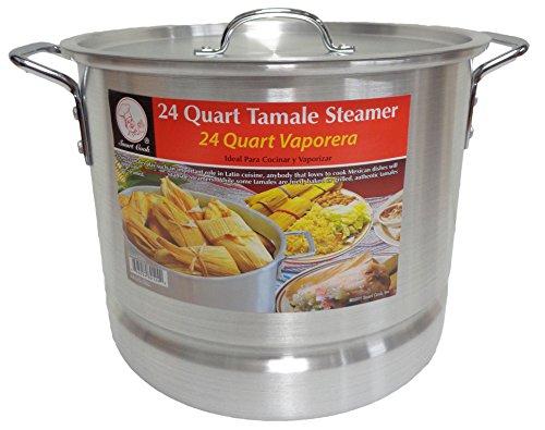 24 Qt Tamale Steamer Vaporera Stock Pot Premium Aluminum Tamalera 6 Gallons