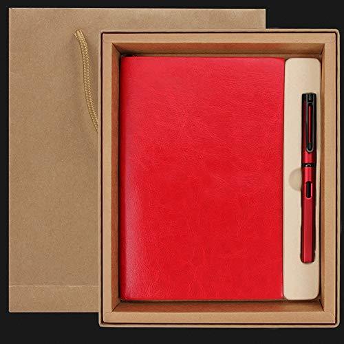 Mlsh books Exquisita Embalaje de Papel Cuaderno con la Pluma del Regalo del e Evento for Chicas y el Muchacho Amigo Colega Reunión Regalo Libro Registro de Libro del Diario con (Color : E)