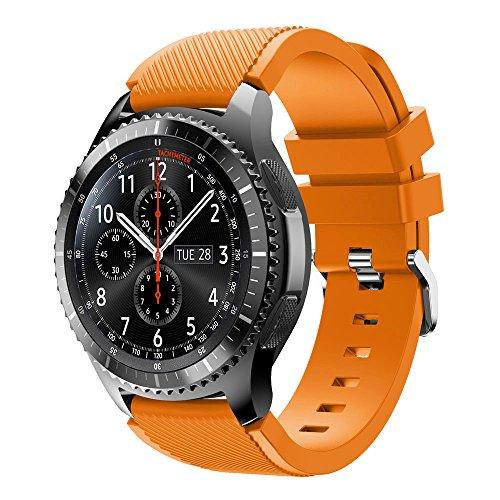 Baohooya Correa para Samsung Gear S3 Frontier Moda Sports Pulsera de Reloj Banda de Reloj Silicona para Samsung Gear S3 Frontier