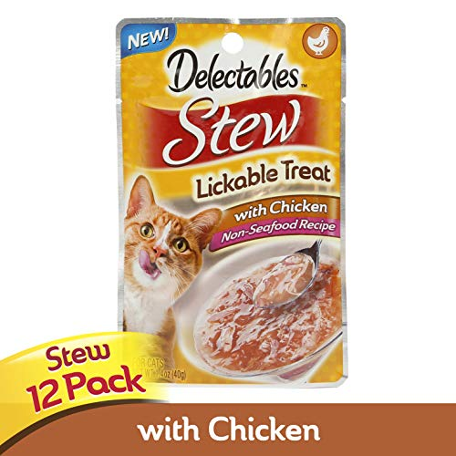 Delectables Stew Lickable Wet Cat Treat - Chicken Pack of 12