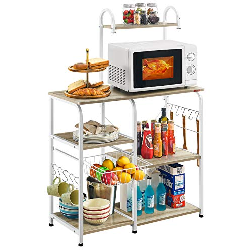 Mr IRONSTONE Kitchen Baker's Rack Utility Storage Shelf 35.5' Microwave Stand...