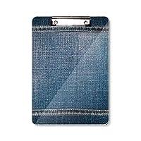 デニム・ジーンズのカウボーイの裏の織物 フラットヘッドフォルダーライティングパッドテストA4