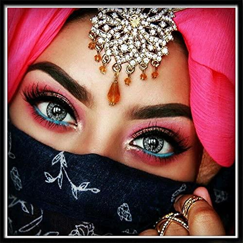 Ifoto Diy 5D Diamante Pintura Por Número Kit Rhinestone Bordado De Punto De Cruz Artes Manualidades Lienzo Pared Decoración(30X40Cm)-Mujer De Dubai
