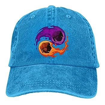 Balance Dice Dungeon Master RPG D&D Baseball Cap Unisex Adjustable Washable Cotton Hat Blue