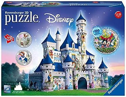 Ravensburger- Puzzles 3D Building Serie Maxi, Disney Fantasy Castle (12587)