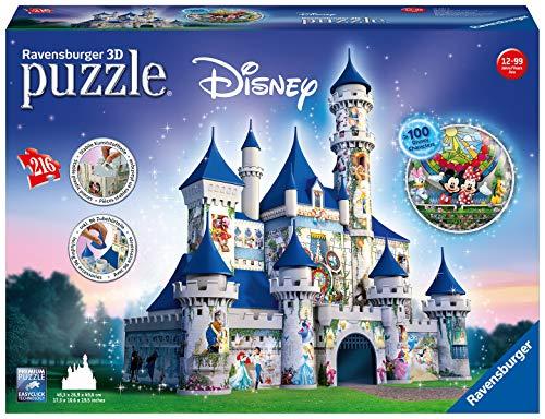 Ravensburger-00.012.587 Puzzles 3D Building Serie Maxi, Disney Fantasy Castle 12587