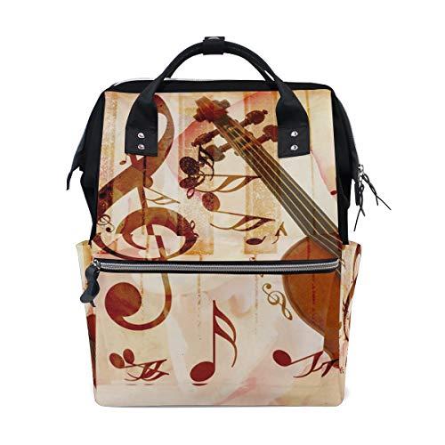 Frauen Casual Rucksack Music Note Klavier Violine Tasche Weit Offen Arbeit Arzt Stil Daypack Leinwand für Damen Mädchen Rucksack