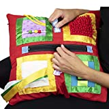 Fidget Blanket- Fidget Pillowcase Cover for Those Suffering from Memory Loss and Dementia, by American Heritage Industries (Red)