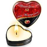 Plaisirs Secrets Mini Bougie de Massage Pêche de Vigne Boîte Cœur 35 ml
